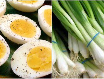 Ce se intampla in corpul tau daca mananci oua fierte cu ceapa verde. Combinatia care a atras atentia specialistilor